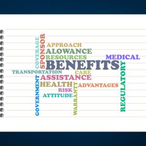 Benefits,medical,alowance crossword concept